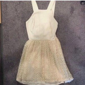 Altar'd State Cream Colored Lacey Dress (Sz S)